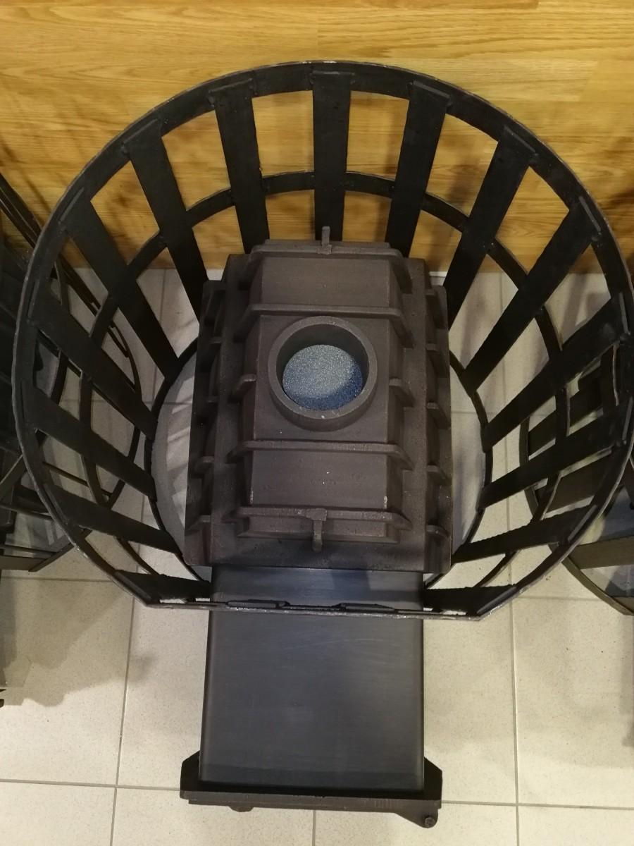 Печь чугунная 14 Монолит (чугунная сетка)